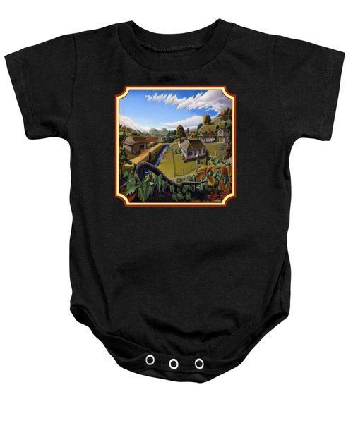 The Veon's Farm Life Country Landscape - Square Format Baby Onesie