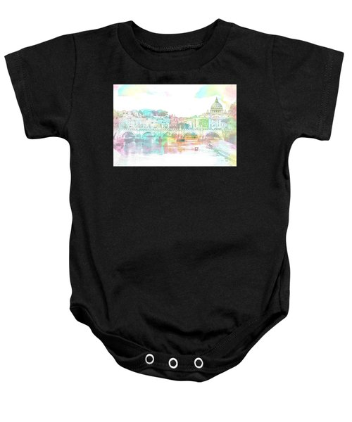 The View From Castel Sant'angelo Towards Ponte Sant'angelo, Brid Baby Onesie