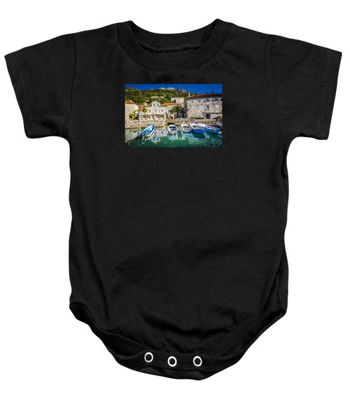 The Waiting Boats Baby Onesie