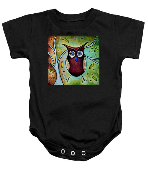 The Whimsical Owl Baby Onesie