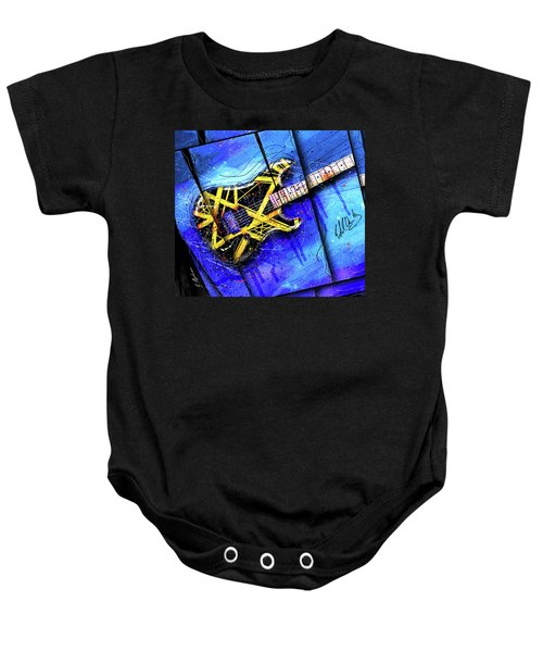 The Yellow Jacket_cropped Baby Onesie by Gary Bodnar