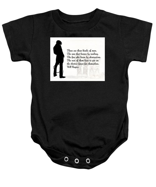 There Are Three Kinds Of Men Baby Onesie