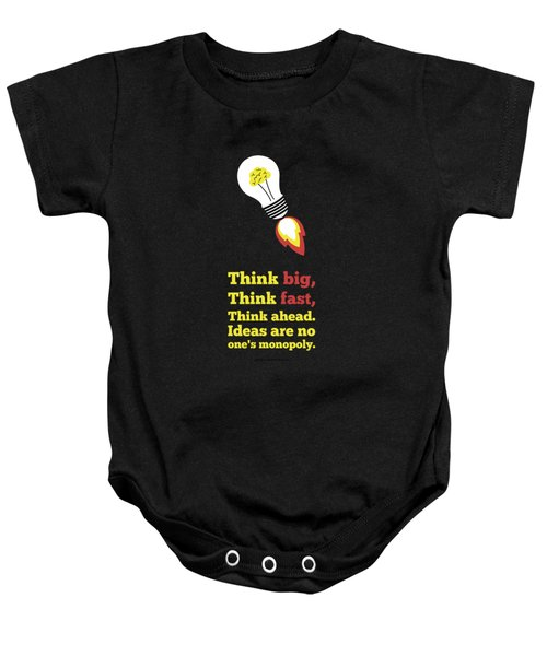 Think Big Think  Ahead Motivational Typography Art Inspirational Poster Baby Onesie