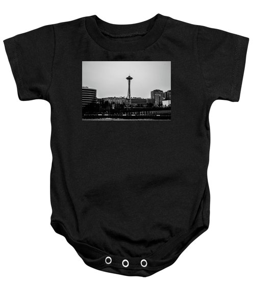 This Is Seattle Black And White Baby Onesie