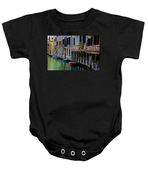 Three Boats Baby Onesie