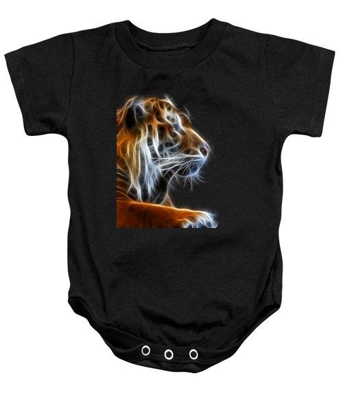 Tiger Fractal 2 Baby Onesie