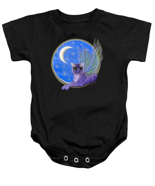 Tigerpixie Purple Tiger Fairy Baby Onesie