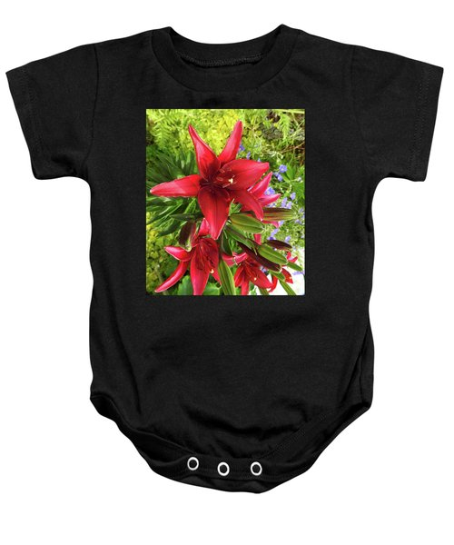 Tiny Ghost Asiatic Lilly Baby Onesie