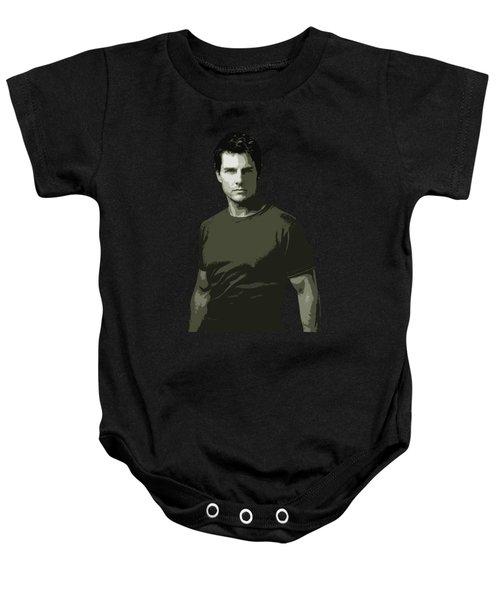 Tom Cruise Cutout Art Baby Onesie