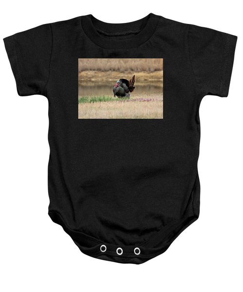 Tom Turkey At Pond Baby Onesie