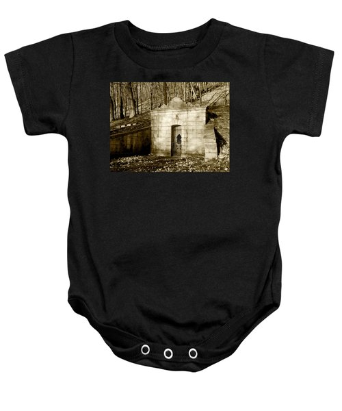 Tomb With A View In Sepia Baby Onesie