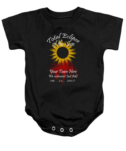 Total Eclipse Art For T Shirts Sun And Tree On Black Baby Onesie