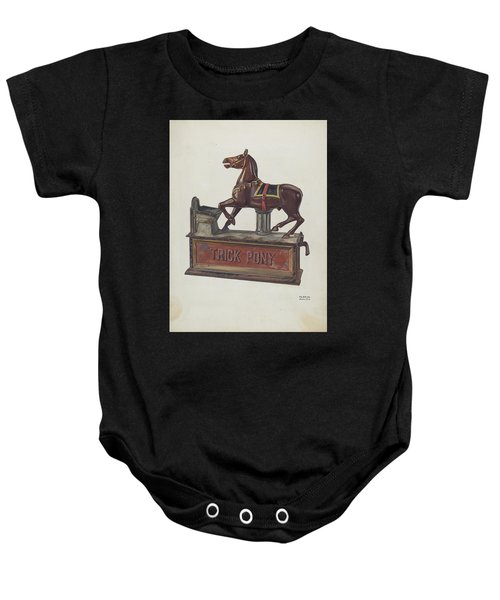 Toy Bank - Trick Pony Baby Onesie