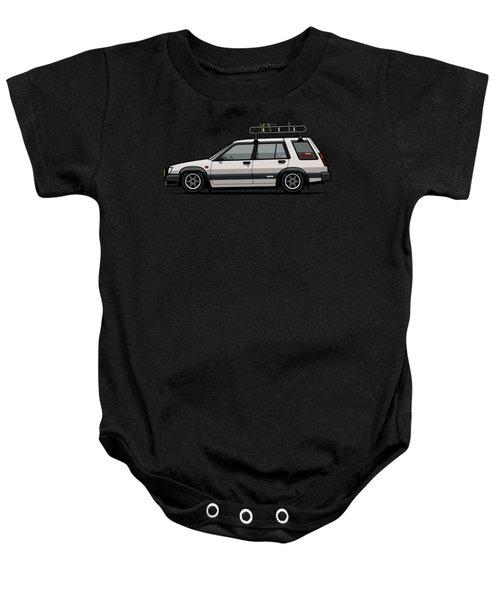 Toyota Tercel Sr5 4wd Slammed Wagon Al25 White Baby Onesie