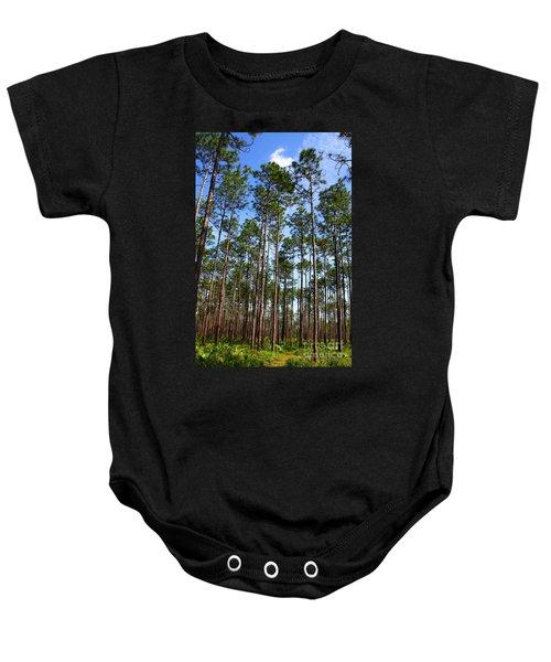 Trail Through The Pine Forest Baby Onesie