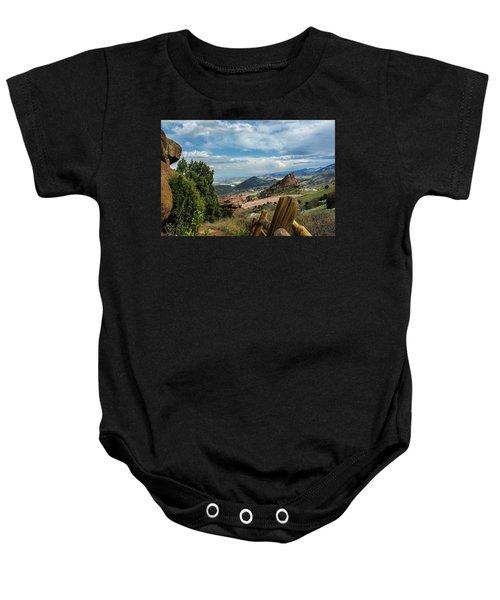 Trails At Red Rocks Baby Onesie