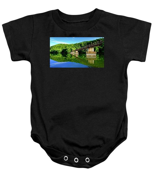 Tranquility At The James River Footbridge Baby Onesie