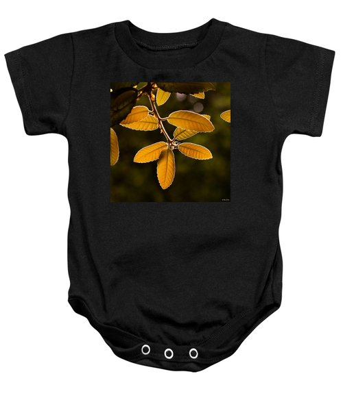 Translucent Leaves Baby Onesie