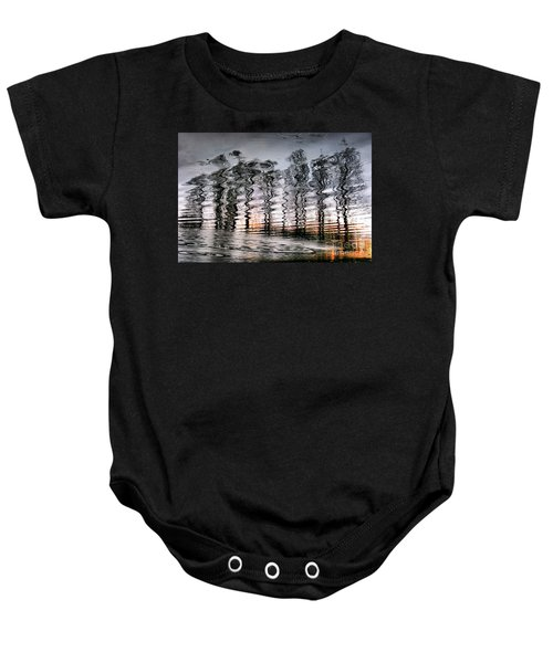 Tree And Reflection Baby Onesie