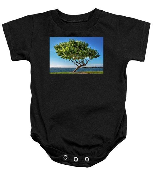 Tree On The Bay Baby Onesie