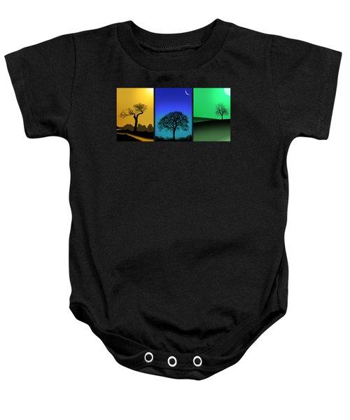 Tree Triptych Baby Onesie by Mark Rogan
