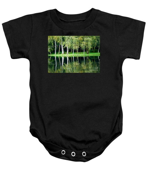 Trees Reflected In Water Baby Onesie
