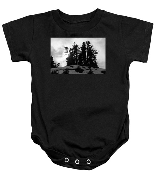 Trees Silhouettes Baby Onesie
