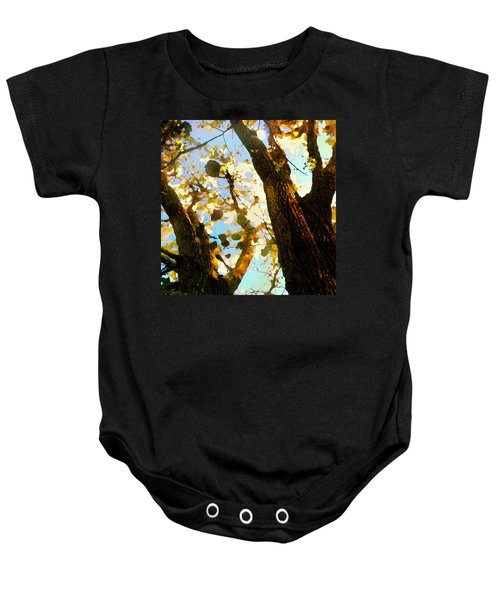 Treetop Abstract-look Up A Tree Baby Onesie