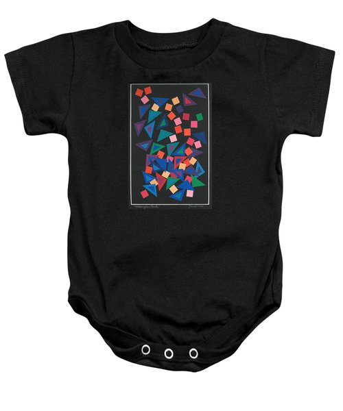 Triangles Ball Baby Onesie