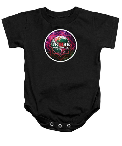 Baby Onesie featuring the painting Triiibe Worldwide By Lorcan by Chief Hachibi