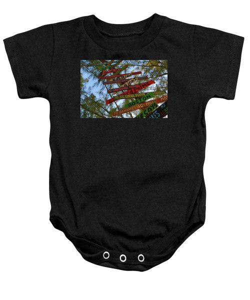 Tropical Directions Baby Onesie