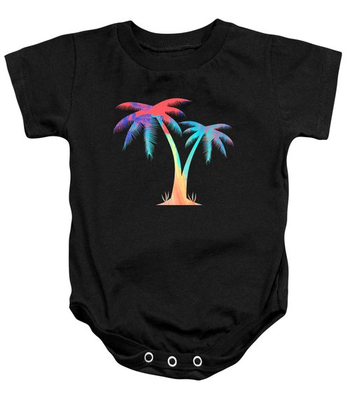 Tropical Palm Trees Baby Onesie