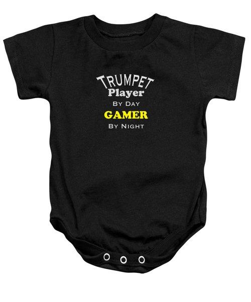 Trumpet Player By Day Gamer By Night 5629.02 Baby Onesie