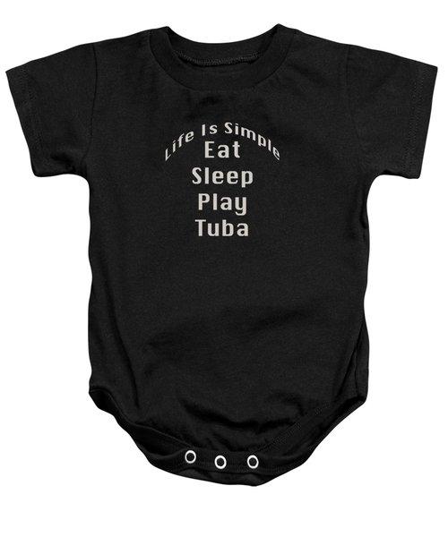 Tuba Eat Sleep Play Tuba 5519.02 Baby Onesie