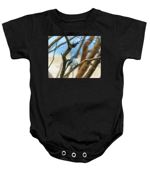 Tufted Titmouse In Tree Baby Onesie