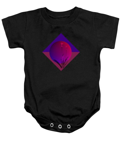 Tulip Abstract Baby Onesie by Nancy Pauling