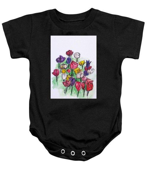 Tulip Bed Baby Onesie