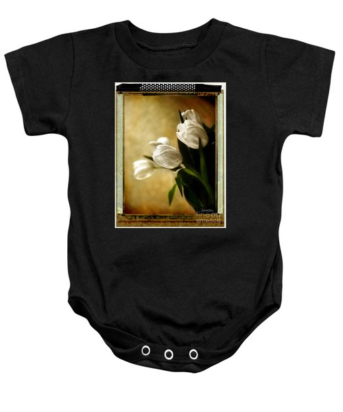 Tulip Side Sepia Baby Onesie