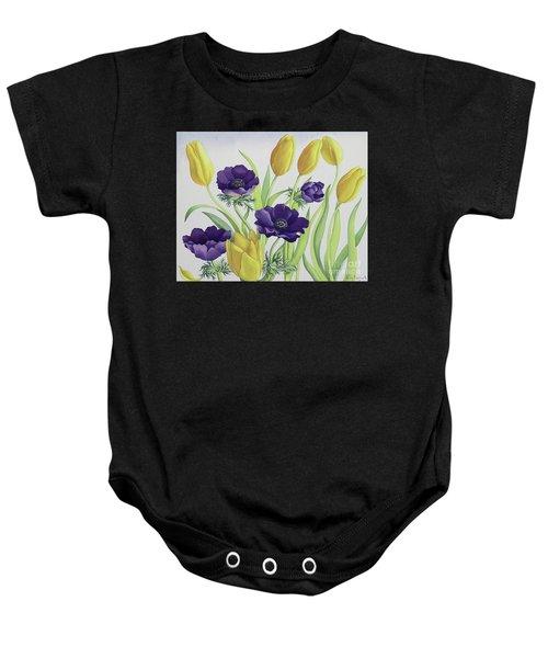 Tulips And Anemones Baby Onesie