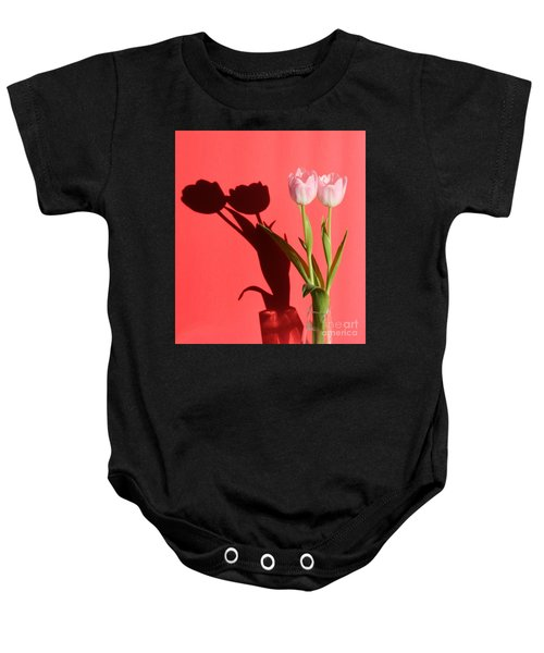Tulips Casting Shadows Baby Onesie