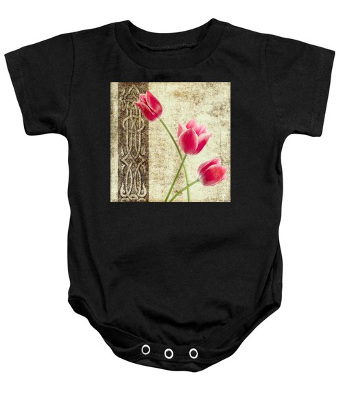 Tulips Vintage  Baby Onesie