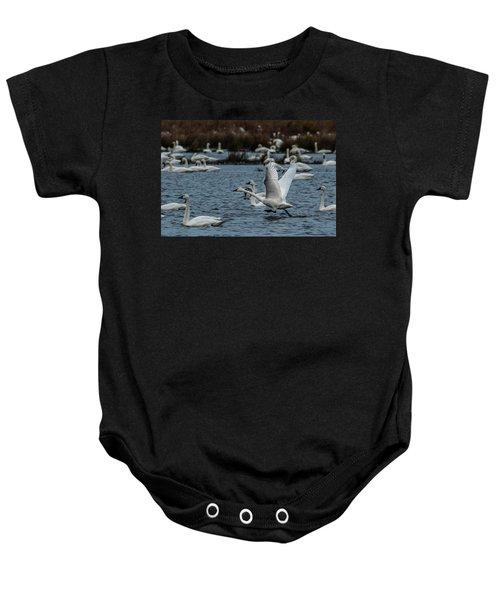 Tundra Swan And Liftoff Head Start Baby Onesie