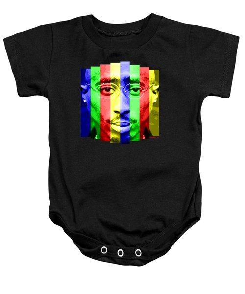 Tupac Stripes  Baby Onesie