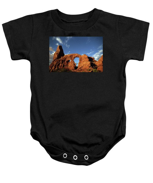 Turret Arch In The Moonlight Baby Onesie