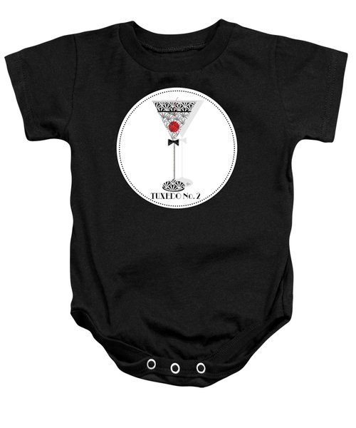 Tuxedo No. 2 Deco Swing Cocktail Baby Onesie by Cecely Bloom