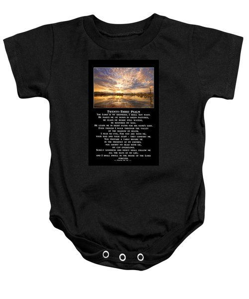 Twenty-third Psalm Prayer Baby Onesie