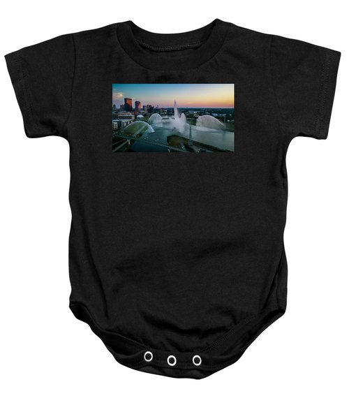 Twilight At The Fountains Baby Onesie