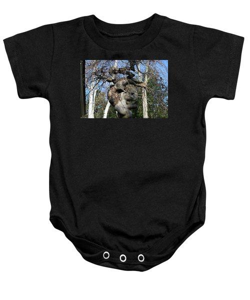 Two Elephants In A Tree Baby Onesie