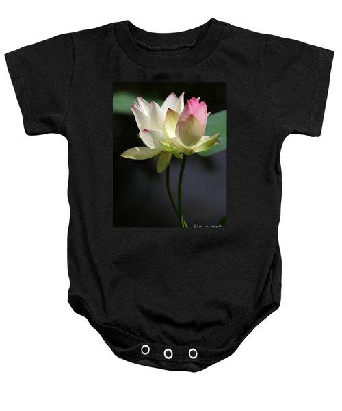 Two Lotus Flowers Baby Onesie