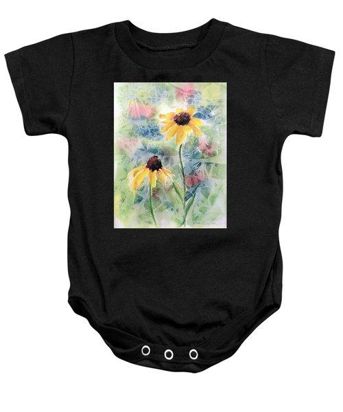 Two Sunflowers Baby Onesie